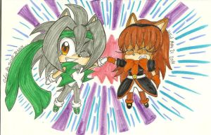 .:gift:.chibi Z and Mari adventure by SONICJENNY