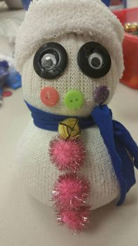 The Little Pink Snowman. by anniemscluv93