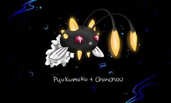 pyukumuku chinchou fusion by Lux-The-Umbreon
