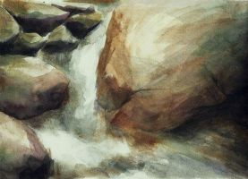 Waterfall Watercolour by CaptainJoellie