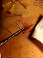 Play piercing, cuttings and sutures by TheChristOff