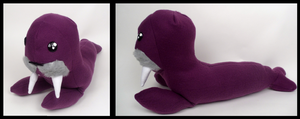 Purple Walrus Plushie by Mermade4u