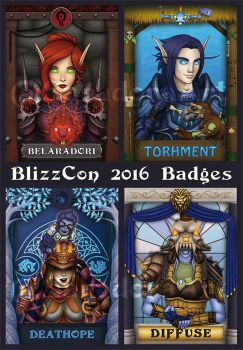 BlizzCon Badges - 2016 by SaradoraArt