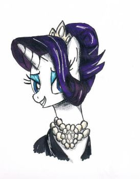 Rarity Manehattan Sketch by LizChwan