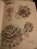 Pen Roses by H-o-s-t