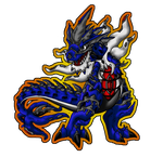 Shiny Mega Tyrantitar Tyrantrum Color by piratedragon0402
