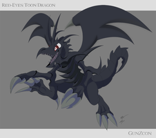 Red Eyes Toon Dragon by GunZcon