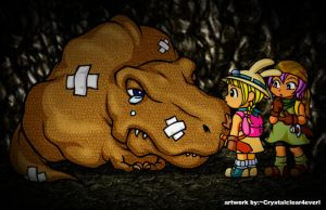 dinosaur me and my sister by Crystalclear4everl