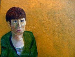 Self Portrait Ocre by beccabones01