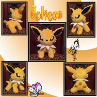 Minky Jolteon Plush *Sold!* by Ami-Plushies