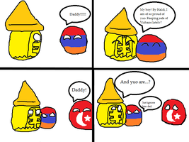 Armeniaball Meets His Father Urartuball by Surenity