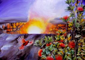 Kilauea crater by veracauwenberghs