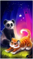 Panda and Tiger by AllesiaTheHedge