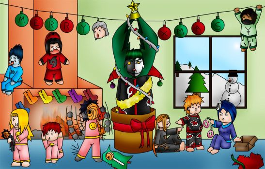 Akatsuki Christmas by beffles
