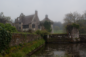DSC09852 Scotney Castle In The Rain by wintersmagicstock