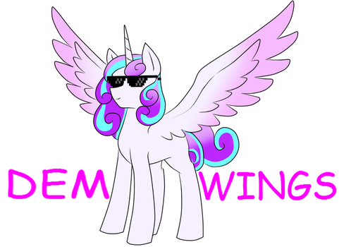 Dem HUGE wings by Clossel