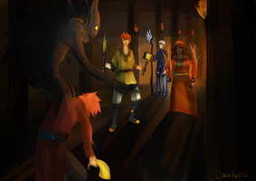 Cavern raid by DawnKestrel