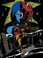 samus and chief by oldwillowJP