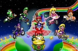 Rainbow Road Wii by HamSamwich