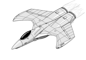 Aether Aerospace Fighter by TheCentipede