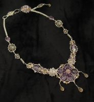 Amethyst and Citrine Necklace by mdvannes