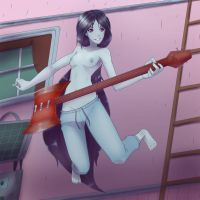 Soft Shaded Commissin -Marceline the vampire queen by EymBee