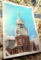 Clock tower Drawing by Galbatore