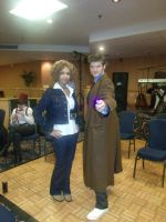 Doctor Who Cosplay: Ten and River by KnoppGraphics
