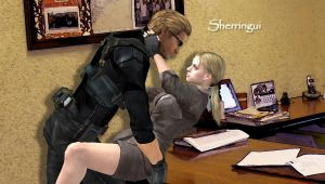 Wesker x Jill by Sherringui