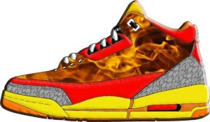 Human Torch Shoe Design by Dante909