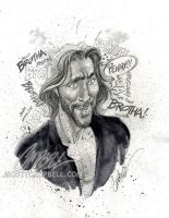 "LOST sketches ""Desmond"" by J-Scott-Campbell"