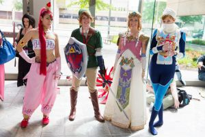 Nabooru, Link, Princess Zelda, and Sheik by LordliCosplay