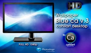 Wallpaper CA cahilart Blue Desktop v.3 by CaHilART