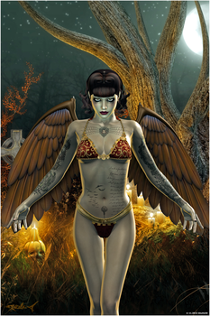 All Hallos Angel - Halloween 2013 by akulla3D
