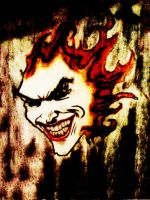 Flaming Joker by Distorted-Colours