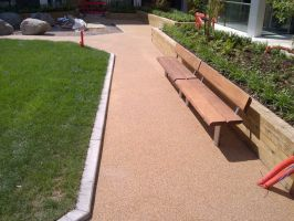Permeable Resin Bound Gravel Footpath Surface by SoftSurfaces