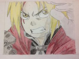 Edward Elric Colored Drawing by SHOOPxDAxWHOOP