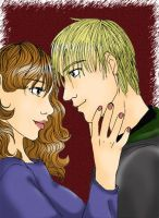 Hermione and Draco by amandioka