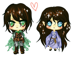 Aragorn and Arwen by cuteincarnate
