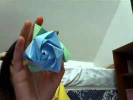 Blue Rose Origami by hatshere
