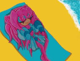 Sky On The Beach by Sky-The-Echidna