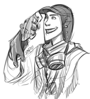 tf2: steampunk scout sketch again by DarkLitria