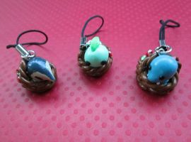 Chibi Johto Pokebasket Charms by SneakyCinnamon