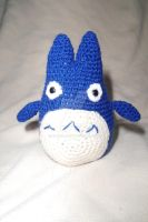 Crochet - Blue Totoro by Kabbij