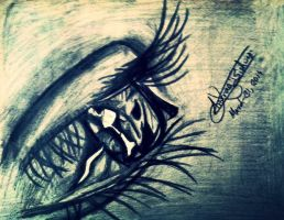 Eye Sketch by anuragbishwas