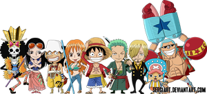 Chibi Straw Hat Pirates by SergiART