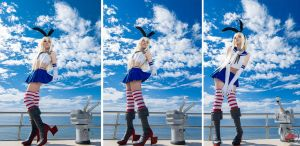 Shimakaze at cloudly skies / Cosplay by MaySakaali