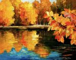 Fall Dance by Leonid Afremov by Leonidafremov