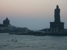 Close snap of VIVEKANANDA ROCK by Mysteriouspizza