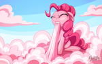 Pinkie Cotton Candy Clouds by mysticalpha
